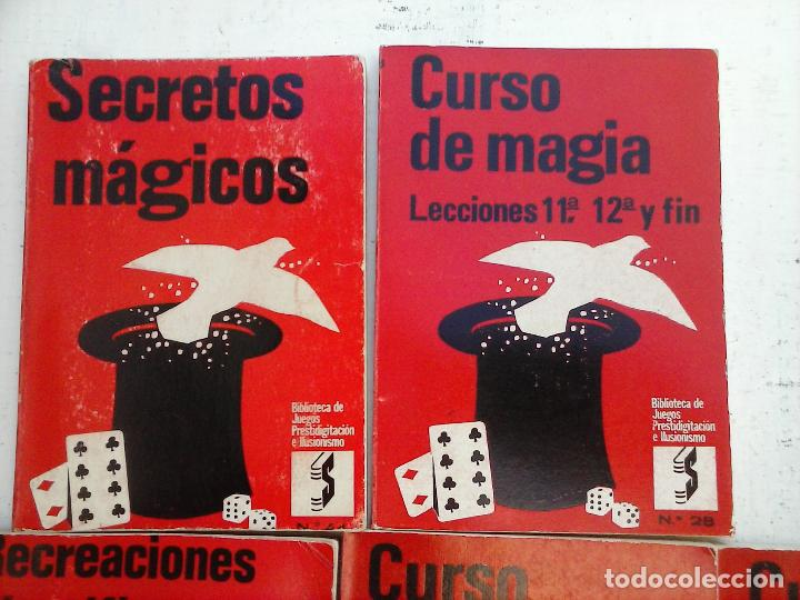 Libros de segunda mano: BIBLIOTECA DE JUEGOS PRESTIDIGITACIÓN E ILUSIONISMO - CURSO DE MAGIA - 10 LIBROS - - Foto 5 - 107824751