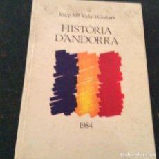 Libros de segunda mano: HISTORIA D'ANDORRA. Lote 107931383