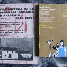 Libros de segunda mano: L´ESTRUCTURA PROPIETAT AGRARIA ALBORAIA 1828-1889-AGRICULTURA A TIEMPO PAIS VALENCIANO, 2 TITULOS. Lote 107987031
