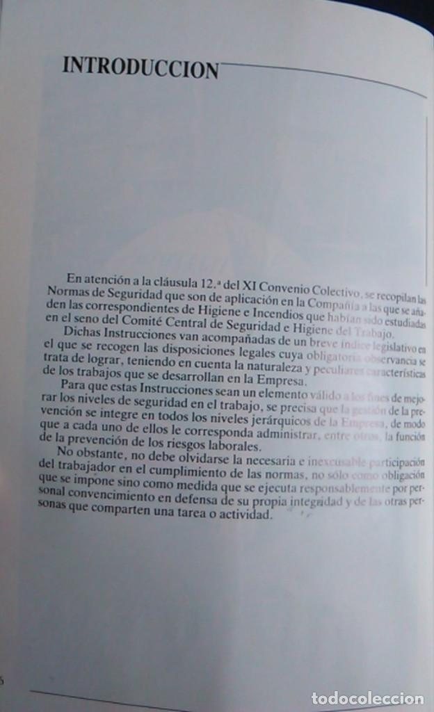 Libros de segunda mano: Manual normas de seguridad e higiene en el trabajo, Telefónica. 1988. - Foto 3 - 108081139