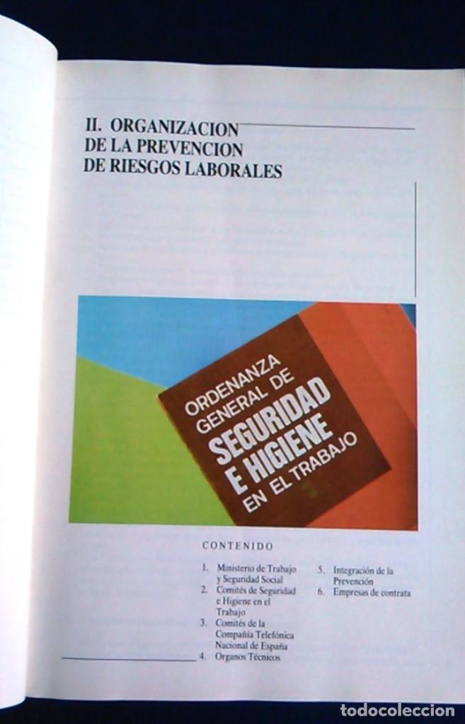 Libros de segunda mano: Manual normas de seguridad e higiene en el trabajo, Telefónica. 1988. - Foto 5 - 108081139