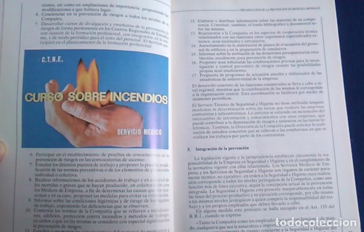 Libros de segunda mano: Manual normas de seguridad e higiene en el trabajo, Telefónica. 1988. - Foto 6 - 108081139