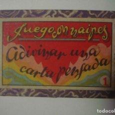 Libros de segunda mano: LIBRERIA GHOTICA. JUEGO DE MAGIA: JUEGO CON NAIPES. ADIVINAR UNA CARTA PENSADA. 1940. CAJA Y BARAJA. Lote 108269079