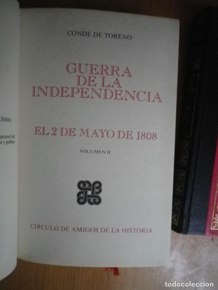 Libros de segunda mano: GUERRA DE INDEPENDENCIA 2 DE MAYO 1808 AMIGOS DE LA HISTORIA 3 TOMOS - Foto 3 - 108783323