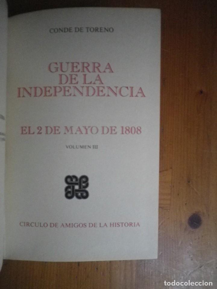 Libros de segunda mano: GUERRA DE INDEPENDENCIA 2 DE MAYO 1808 AMIGOS DE LA HISTORIA 3 TOMOS - Foto 4 - 108783323