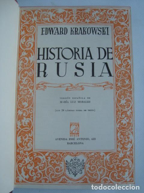 Libros de segunda mano: BELLA EDICIÓN - HISTORIA DE RUSIA. LA EURASIA Y OCCIDENTE - EDWARD KRAKOWSKI (SURCO, 1956). 1ª ED. - Foto 2 - 108897863