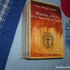 Libros de segunda mano: HISTORIA CRITICA DE LA INQUISICION EN ESPAÑA . JUAN ANTONIO LLORENTE , 4 TOMOS EN CAJA. Lote 108986775