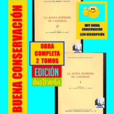 Libros de segunda mano: LA JUNTA SUPREMA DE CANARIAS I Y II BUENAVENTURA BONNET Y REVERÓN ANTONIO RUMEU DE ARMAS - HISTORIA. Lote 176523669