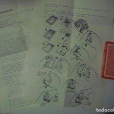 Libros de segunda mano: LIBRERIA GHOTICA. JUEGO DE MAGIA: LA MOSCA. SELECCIONES MAGICAS. INSTRUCCIONES Y BARAJA. 1980. Lote 109087159