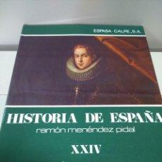 Libros de segunda mano: HISTORIA DE ESPAÑA -- TOMO XXIV -- RAMON MENDEZ PIDAL -- ESPASA CALPE -- 1979 --. Lote 109095471