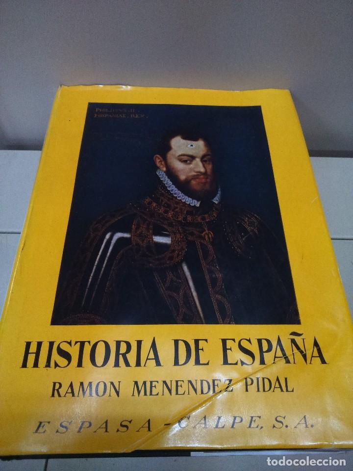 HISTORIA DE ESPAÑA --TOMO XIX - VOLUMEN I -- RAMON MENDEZ PIDAL -- ESPASA CALPE -- 1958 -- (Libros de Segunda Mano - Historia - Otros)