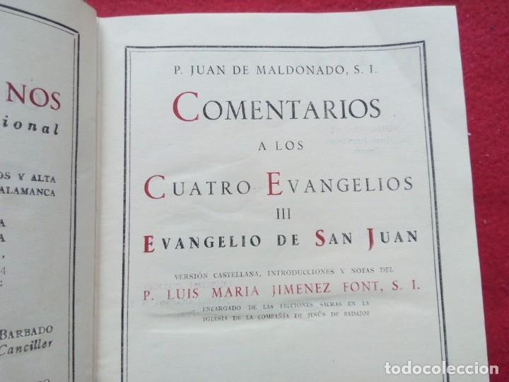 Libros de segunda mano: TUBAL BIBLIOTECA JOSE MARÍA GARRIDO BARRERA ESPERA CADIZ COMENTARIOS AL EVANGELIO DE SAN JUAN BAC - Foto 3 - 109158275