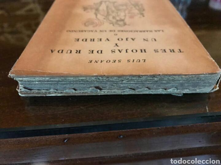 Libros de segunda mano: Tres hojas de ruda y un ajo verdo, Luis Seoane, Buenos Aires - Foto 4 - 109159294