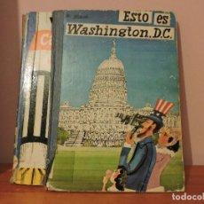 Libros de segunda mano: M. SASEK - ESTO ES... WASHINGTON, DC Y ESTO ES... CABO KENNEDY [REPARABLES. VER FOTOS]. Lote 109390635