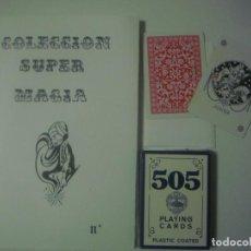 Libros de segunda mano: LIBRERIA GHOTICA. COLECCION SUPER MAGIA. 1980. LA BARAJA TOTAL. INCLUYE BARAJA Y JUEGO. FOLIO MENOR.. Lote 109582775