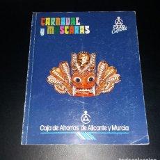 Libros de segunda mano: LIBRO. CATÁLOGO DE MÁSCARAS COLECCIÓN JUAN RAMÍREZ DE LUCAS. 1988. Lote 109778711