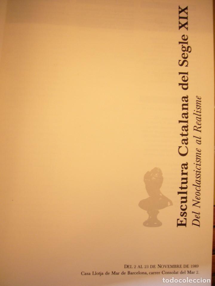 Libros de segunda mano: CATÁLOGO/ CATÀLEG ESCULTURA CATALANA DEL SEGLE XIX LLOTJA DE MAR 1989 (FUND. CAIXA DE CATALUNYA) - Foto 4 - 110050815