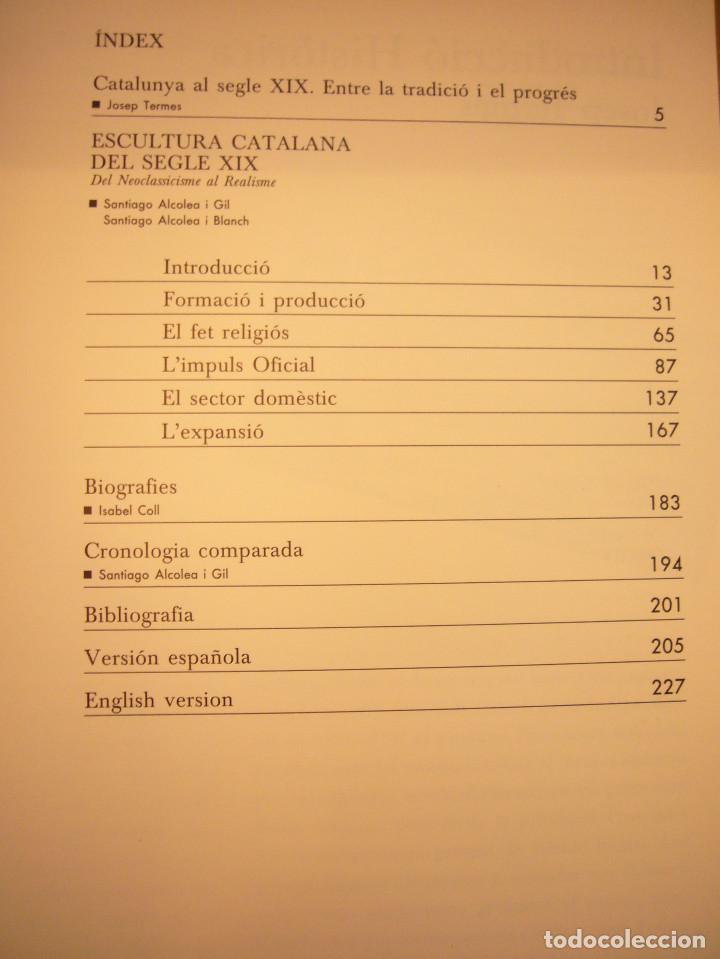 Libros de segunda mano: CATÁLOGO/ CATÀLEG ESCULTURA CATALANA DEL SEGLE XIX LLOTJA DE MAR 1989 (FUND. CAIXA DE CATALUNYA) - Foto 5 - 110050815