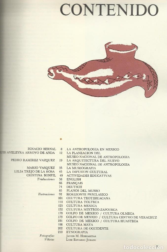 Libros de segunda mano: MUSEO NACIONAL DE ANTROPOLOGÍA, Artes de México - Foto 2 - 110423535