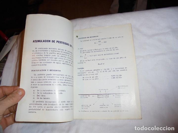 Libros de segunda mano: HOJAS DIVULGADORAS.ACUMULACION DE PESTICIDAS EN EL SUELO.FERNANDO BESNIER ROMERO.-1974 - Foto 2 - 110485951