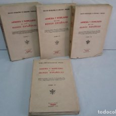 Libros de segunda mano: ARMERIA Y NOBILIARIO DE LOS REINOS ESPAÑOLES. TOMO I-II-III-IV. EDICIONES HIDALGUIA. VER FOTOS. Lote 110671631