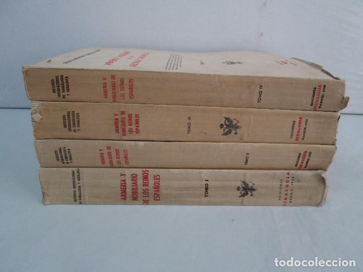 Libros de segunda mano: ARMERIA Y NOBILIARIO DE LOS REINOS ESPAÑOLES. TOMO I-II-III-IV. EDICIONES HIDALGUIA. VER FOTOS - Foto 2 - 110671631