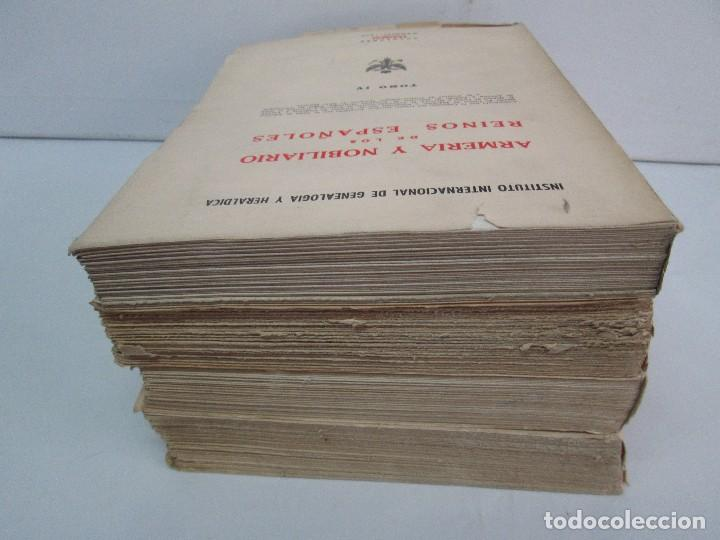 Libros de segunda mano: ARMERIA Y NOBILIARIO DE LOS REINOS ESPAÑOLES. TOMO I-II-III-IV. EDICIONES HIDALGUIA. VER FOTOS - Foto 5 - 110671631