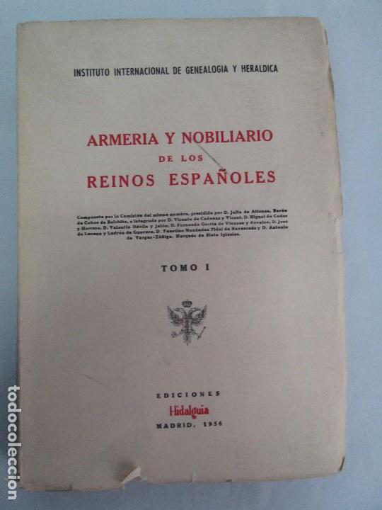 Libros de segunda mano: ARMERIA Y NOBILIARIO DE LOS REINOS ESPAÑOLES. TOMO I-II-III-IV. EDICIONES HIDALGUIA. VER FOTOS - Foto 6 - 110671631