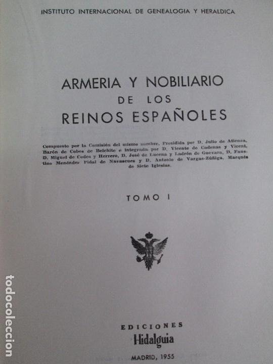 Libros de segunda mano: ARMERIA Y NOBILIARIO DE LOS REINOS ESPAÑOLES. TOMO I-II-III-IV. EDICIONES HIDALGUIA. VER FOTOS - Foto 7 - 110671631