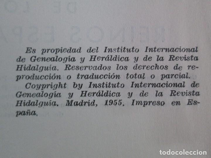 Libros de segunda mano: ARMERIA Y NOBILIARIO DE LOS REINOS ESPAÑOLES. TOMO I-II-III-IV. EDICIONES HIDALGUIA. VER FOTOS - Foto 8 - 110671631