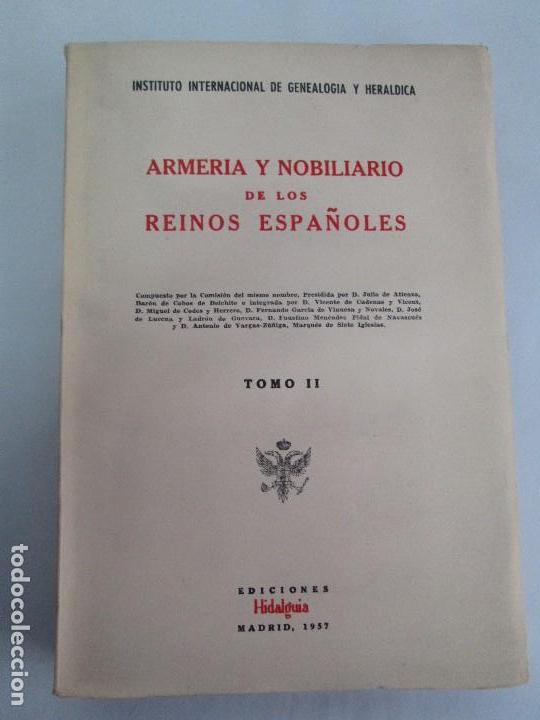 Libros de segunda mano: ARMERIA Y NOBILIARIO DE LOS REINOS ESPAÑOLES. TOMO I-II-III-IV. EDICIONES HIDALGUIA. VER FOTOS - Foto 14 - 110671631