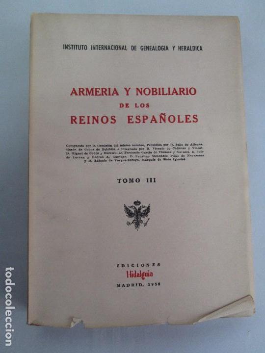 Libros de segunda mano: ARMERIA Y NOBILIARIO DE LOS REINOS ESPAÑOLES. TOMO I-II-III-IV. EDICIONES HIDALGUIA. VER FOTOS - Foto 21 - 110671631