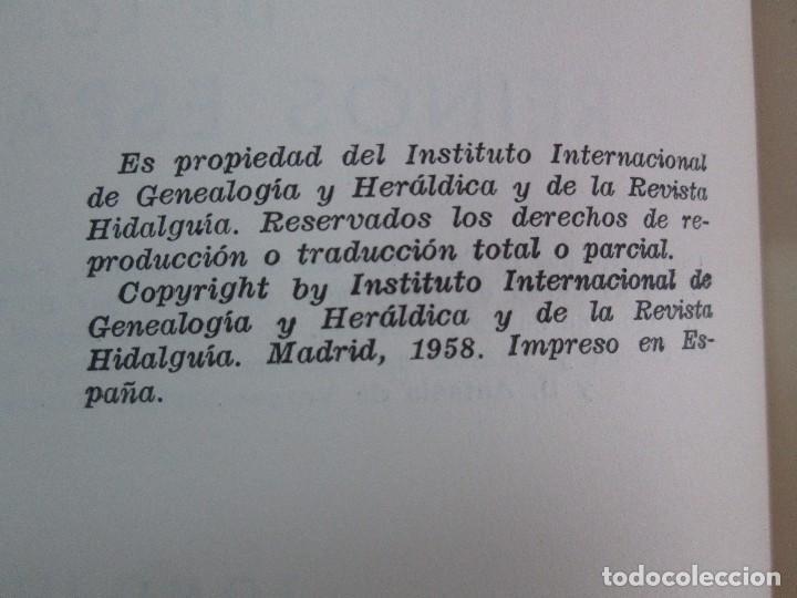 Libros de segunda mano: ARMERIA Y NOBILIARIO DE LOS REINOS ESPAÑOLES. TOMO I-II-III-IV. EDICIONES HIDALGUIA. VER FOTOS - Foto 23 - 110671631