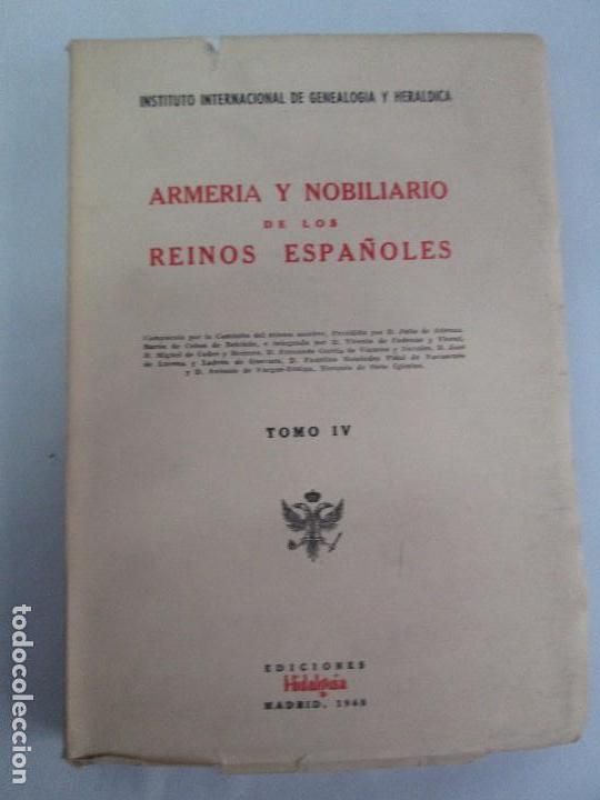 Libros de segunda mano: ARMERIA Y NOBILIARIO DE LOS REINOS ESPAÑOLES. TOMO I-II-III-IV. EDICIONES HIDALGUIA. VER FOTOS - Foto 30 - 110671631