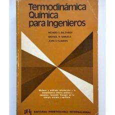 Gebrauchte Bücher - TERMODINÁMICA QUÍMICA PARA INGENIEROS - 110847531