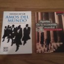 Libros de segunda mano: AMOS DEL MUNDO, UNA HISTORIA DE LAS CONSPIRACIONES + AGENTES DE LA ECONOMIA MUNDIAL. Lote 58098903