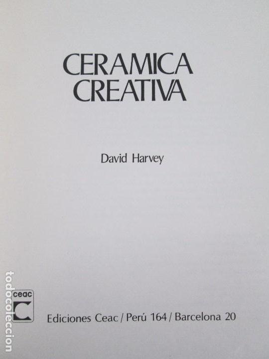 Libros de segunda mano: CERAMICA A MANO. CERAMICA CREATIVA. CERAMICA Y ALFARERIA POPULARES DE ESPAÑA. 3 LIBROS. VER FOTOS - Foto 19 - 110982387