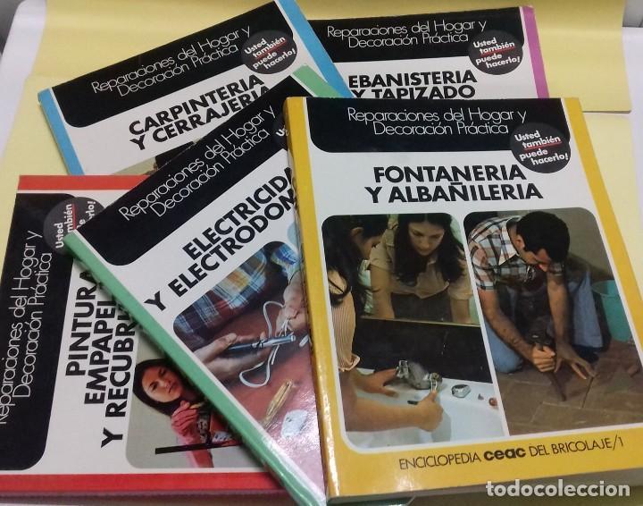 ENCICLOPEDIA BRICOLAJE CEAC 5 VOL FONTANERIA ELECTRICIDAD PINTURA CARPINTERIA TAPIZADO. (Libros de Segunda Mano - Ciencias, Manuales y Oficios - Otros)
