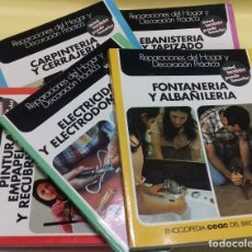 Libros de segunda mano: ENCICLOPEDIA BRICOLAJE CEAC 5 VOL FONTANERIA ELECTRICIDAD PINTURA CARPINTERIA TAPIZADO.. Lote 111064603