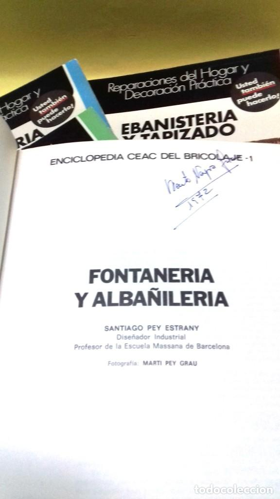 Libros de segunda mano: Enciclopedia Bricolaje CEAC 5 vol fontaneria electricidad pintura carpinteria tapizado. - Foto 2 - 111064603