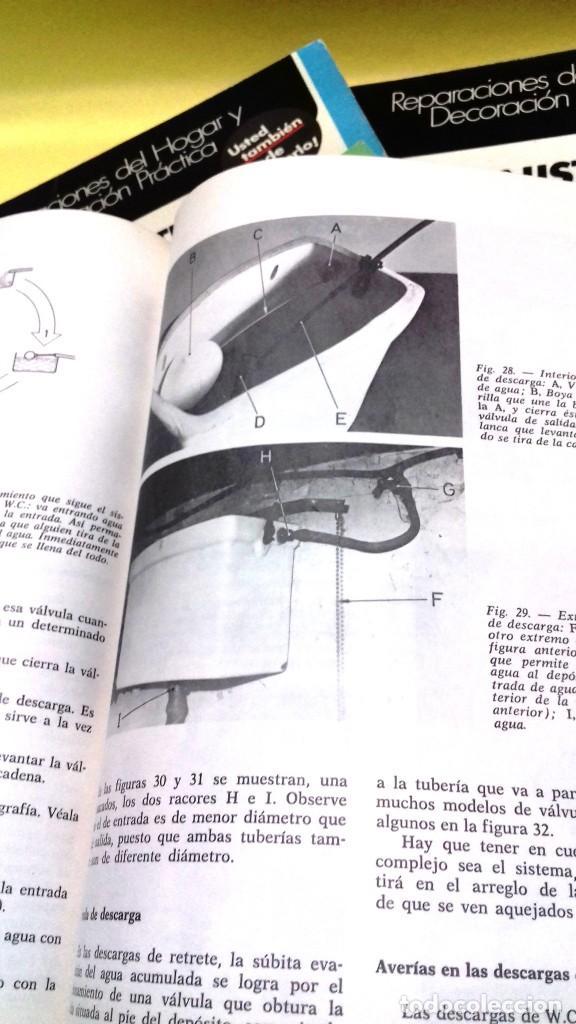 Libros de segunda mano: Enciclopedia Bricolaje CEAC 5 vol fontaneria electricidad pintura carpinteria tapizado. - Foto 3 - 111064603