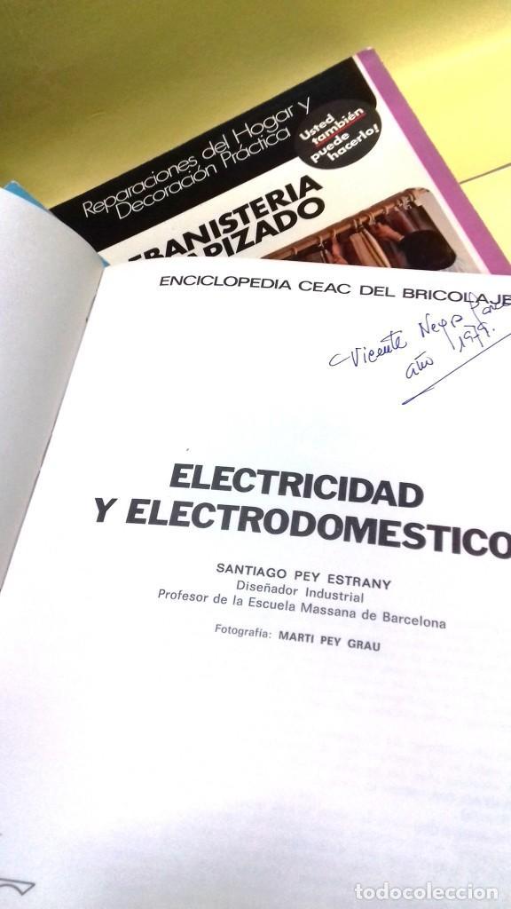 Libros de segunda mano: Enciclopedia Bricolaje CEAC 5 vol fontaneria electricidad pintura carpinteria tapizado. - Foto 5 - 111064603