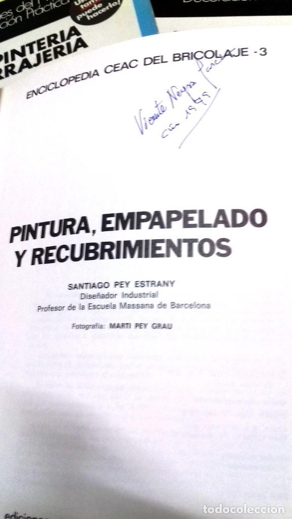 Libros de segunda mano: Enciclopedia Bricolaje CEAC 5 vol fontaneria electricidad pintura carpinteria tapizado. - Foto 8 - 111064603