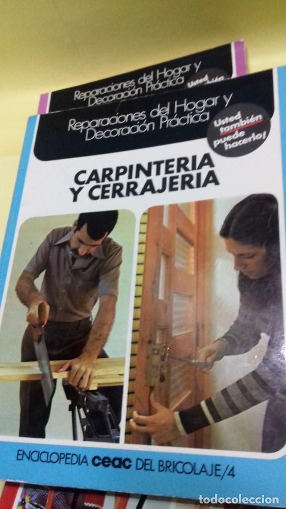 Libros de segunda mano: Enciclopedia Bricolaje CEAC 5 vol fontaneria electricidad pintura carpinteria tapizado. - Foto 10 - 111064603