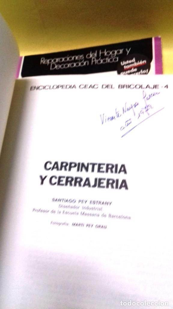 Libros de segunda mano: Enciclopedia Bricolaje CEAC 5 vol fontaneria electricidad pintura carpinteria tapizado. - Foto 11 - 111064603