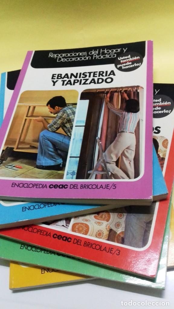 Libros de segunda mano: Enciclopedia Bricolaje CEAC 5 vol fontaneria electricidad pintura carpinteria tapizado. - Foto 13 - 111064603