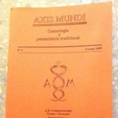 Libros de segunda mano: AXIS MUNDI. COSMOLOGÍA Y PENSAMIENTO TRADICIONAL. NÚMERO 4, AÑO 1995. (80 PÁGINAS). Lote 111338183