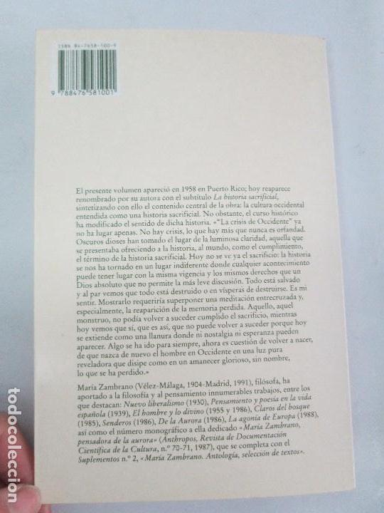 Libros de segunda mano: MARIA ZAMBRANO. 4 LIBROS: LA RAZON EN LA SOMBRA. FILOSOFIA Y POESIA. PERSONA Y DEMOCRACIA... - Foto 15 - 111587059