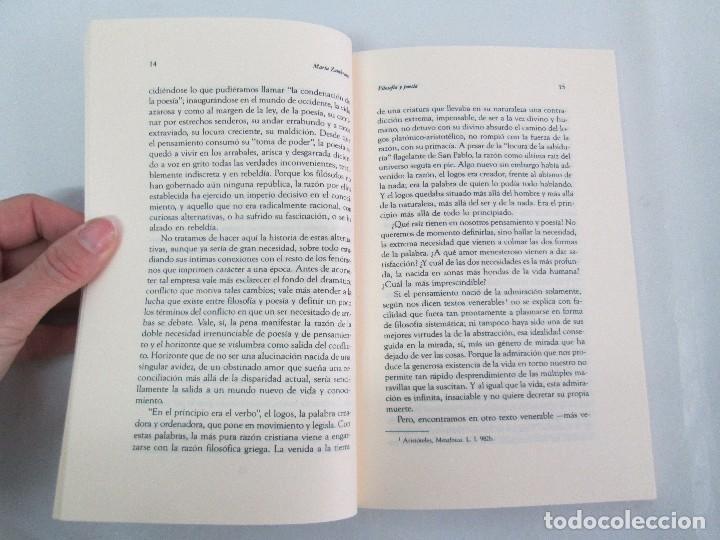 Libros de segunda mano: MARIA ZAMBRANO. 4 LIBROS: LA RAZON EN LA SOMBRA. FILOSOFIA Y POESIA. PERSONA Y DEMOCRACIA... - Foto 19 - 111587059