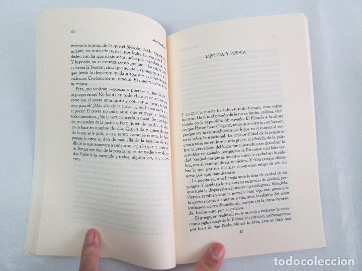 Libros de segunda mano: MARIA ZAMBRANO. 4 LIBROS: LA RAZON EN LA SOMBRA. FILOSOFIA Y POESIA. PERSONA Y DEMOCRACIA... - Foto 20 - 111587059